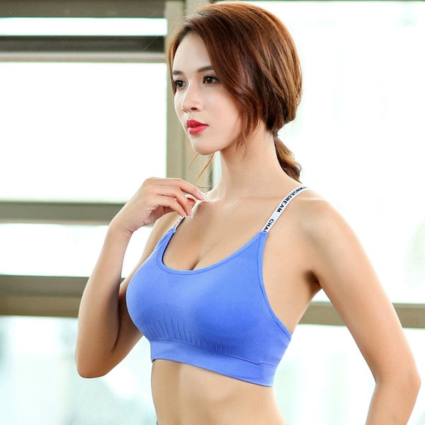 Adjustable Workout Yoga Sports Bra Tops For Quick Dry Shockproof  Running Bras Vest Seamless Fitness Crop Tops - Fitness Adicts