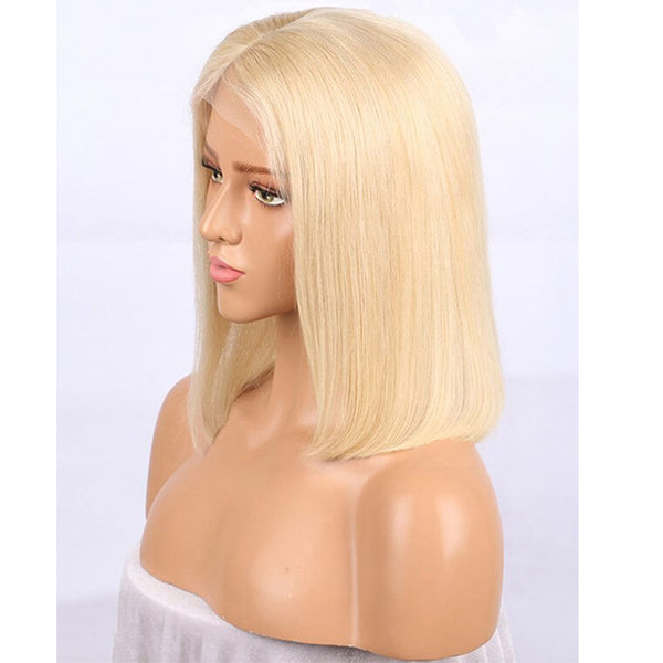 100% Brazilian remy colored glueless human hair bob  lace front wigs - Fitness Adicts