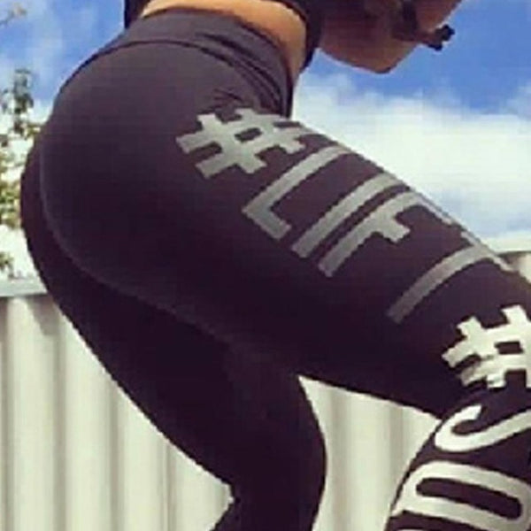 Women Sports Pants Fitness Compression Leggings Running Gym Trousers Sportware Yoga Pant Printed Tight Pant - Fitness Adicts