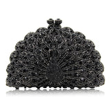 Luxury Crystal Handmade Peacock  Clutch Fashion Rhinestone Diamond  Bridal Handbag - Fitness Adicts