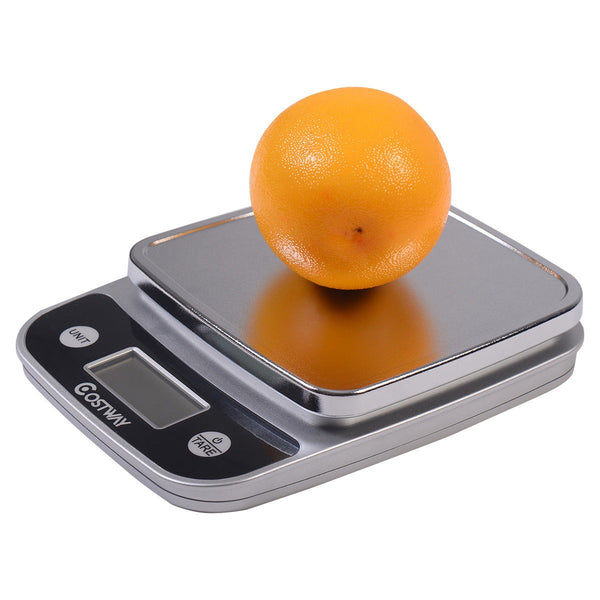 Costway 11lb x 0.04oz LCD Digital Kitchen Weight Scale 5Kg x 1g Food Diet Postal Slim - Fitness Adicts