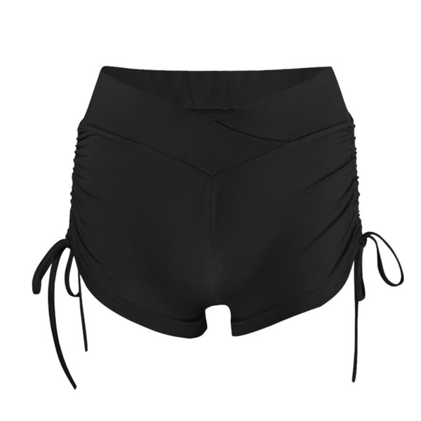 Women Yoga gym Shorts Quick Dry Breathable Sports Running Fitness Drawstring Beach Shorts Swimming pantalon short deporte mujer - Fitness Adicts