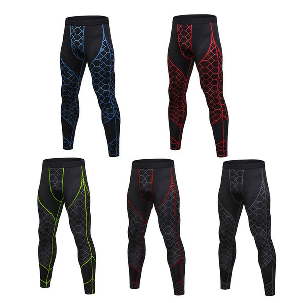 S-2XL Men Compression Pants Fast Dry High Elastic Sports Tights Pants Running Leggings Yoga Athletic Fitness Gym Pants Drop Ship - Fitness Adicts