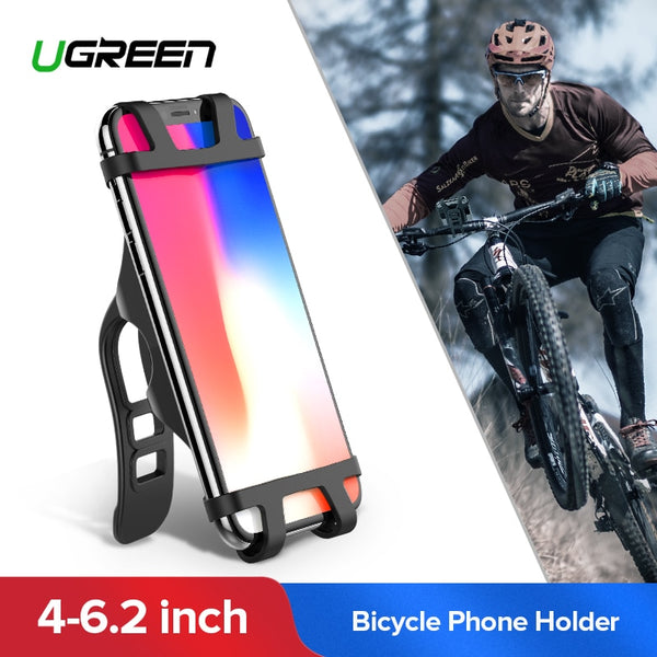 Ugreen Bicycle Phone Holder for iPhone X S 8 Cell Phone Holder Bike Handlebar Phone Holder For Samsung Bicycle Phone Mount Stand - Fitness Adicts