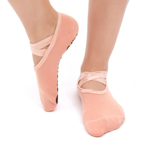 Hot Sell Round Yoga Socks Ladies Ballet Dancing Socks Anti-slip - Fitness Adicts
