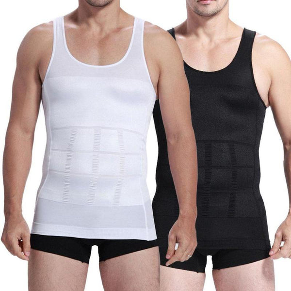 Men Comfort Slimming Underwear Men Corset Body Slimming Tummy Shaper Running Vest Belly Waist Girdle Shirt Shaper Vest - Fitness Adicts