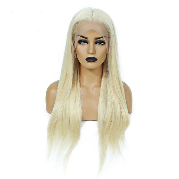 Full Lace Wig 200% Density Blonde 613 Silky Straight Preplucked Hairline 100% Brazilian Human Remy Hair - Fitness Adicts