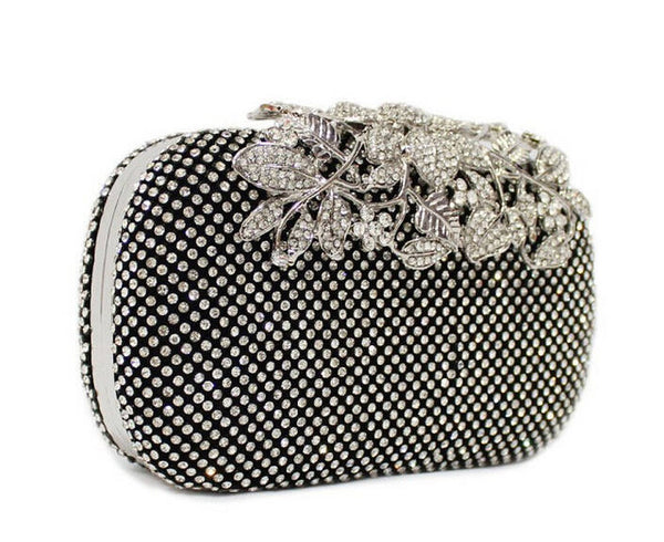 Flower Crystal  Clutch Bags Luxury Diamond Gold Color  Handbag Rhinestones - Fitness Adicts