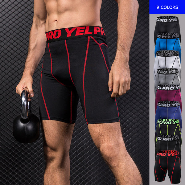 Men's Quick Dry Compression Shorts Fitness Running Exercise Gym Sport Tight Shorts Sportwear For Bodybuilding 1054 - Fitness Adicts