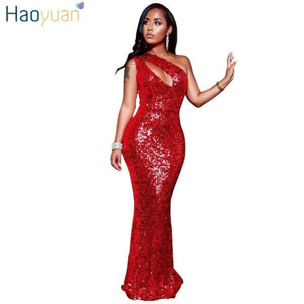 Shiny Sequin Red Party Dress - Fitness Adicts
