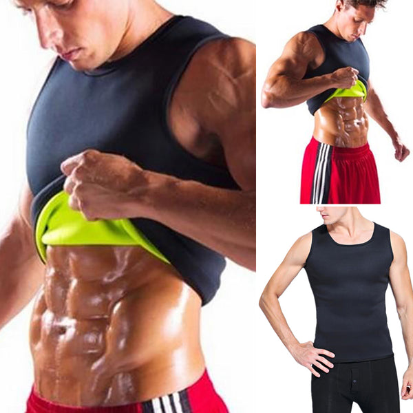 Slimming Belt Belly Men Slimming Vest Body Shaper Neoprene Abdomen Fat Burning Shaperwear Waist Sweat Corset Weight Loss S-5XL - Fitness Adicts