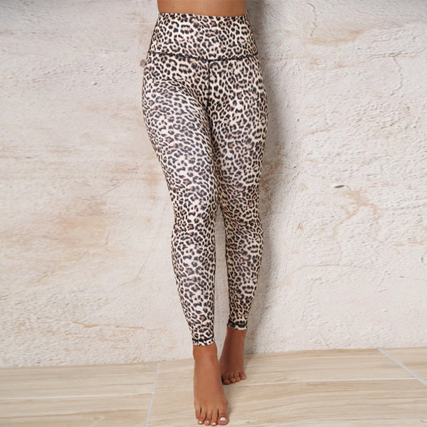 Women's Fashion Leopard Print Sports Gym Running Yoga Athletic Pants - Fitness Adicts