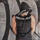 Mens Fitness Muscle Shirt Sleeveless Hoodie Top Bodybuilding Gym Tank Tops Vest - Fitness Adicts
