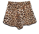 Womens High Waist Leopard Print Shorts Outdoor Sport Running Yoga Gym HOT Pants - Fitness Adicts