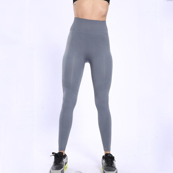 BINAND Female Yoga Leggings Gym Fitness Elastic High Waistband Trousers Breathable Mesh Design Quick-drying Tights Sports Pants - Fitness Adicts