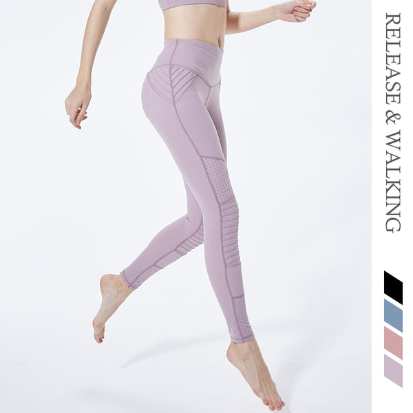 R&W High Waist Tight Women Gym Running Yoga Sport Leggings Crop Top Hollow Sexy Girls Sports Training Pants Brand Design Wear - Fitness Adicts