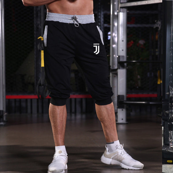 brand new Mens gym shorts Run jogging sports Fitness bodybuilding Sweatpants male workout Jogger Knee Juventus short pant - Fitness Adicts