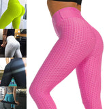 Women Anti-Cellulite Compression Leggings Slim Fit Butt Lift Elastic Pants M8694 - Fitness Adicts