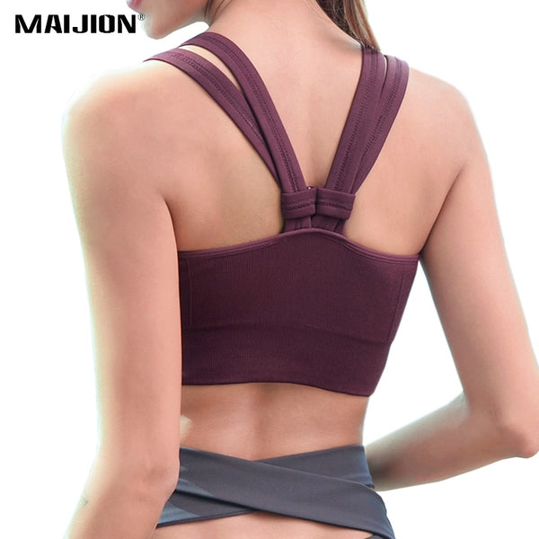 Wireless Push Up Yoga Bra Ladies Breathable Gym Tops - Fitness Adicts