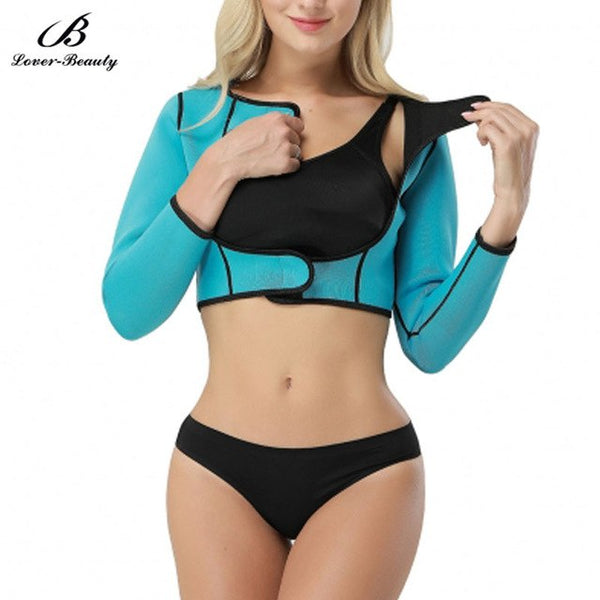 Women's Shapewear Tops Wear Your Own Bra Long Sleeve Crop Top Arm Shapers C+ - Fitness Adicts