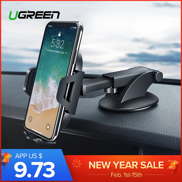 Ugreen Car Phone Holder for iPhone X XS XR Samsung S9 Plus Mount Holder for Phone in Car 360 Rotation Mobile Phone Holder Stand - Fitness Adicts