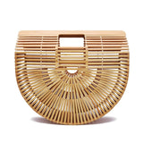 Big Travel Vacation Totes Bamboo Handbag Beach Bag - Fitness Adicts