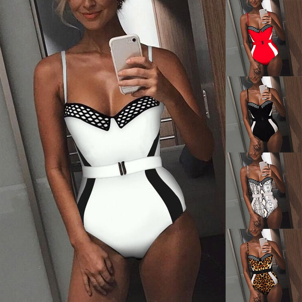 Sexy Print One-Piece Suits Push up  Bathsuit - Fitness Adicts