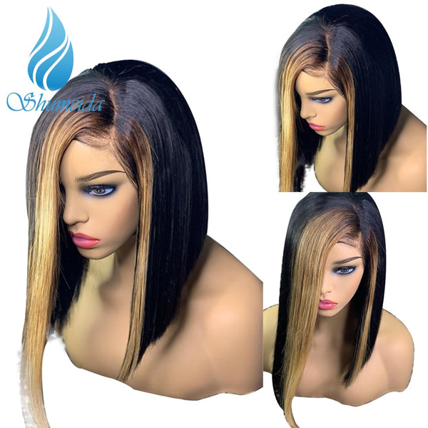 100% Remy Brazilian Straight Short Bob Wigs Human Hair with Baby Hair  Pre Plucked - Fitness Adicts