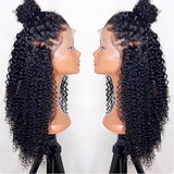 100% Brazilian Human Hair Kinky Curly Lace Front Wigs  Pre Plucked Remy - Fitness Adicts