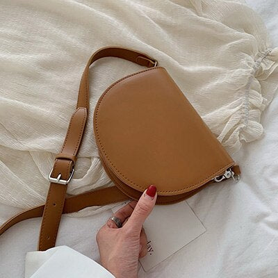 PU Leather Small Saddle Bag - Fitness Adicts