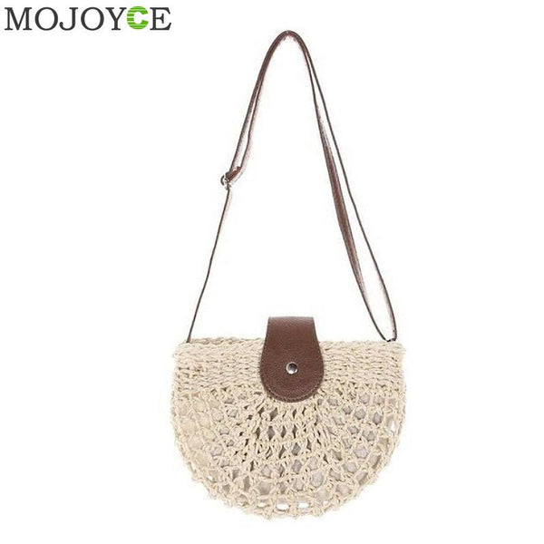 Straw  Beach Bag Handbag - Fitness Adicts