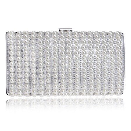 Beaded Rhinestones Chain Shoulder Handbag - Fitness Adicts