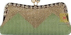 Wedding Bridal Beaded Evening Bag Chain Shoulder Handbags Mixed Color Soft Rhinestones Clutch - Fitness Adicts