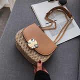 Fringed Chain Small Flap  Straw Crossbody Shoulder Handbags - Fitness Adicts