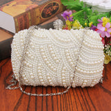 Luxury Crystal Oval Shaped Pearl Beaded Handbag - Fitness Adicts