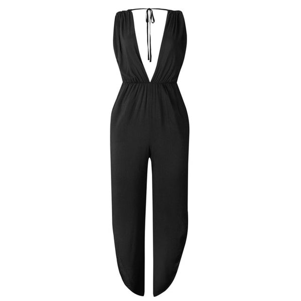 Sexy  Deep V Neck  Jumpsuit - Fitness Adicts