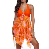 Printed Fashion Two Piece Split Swimsuit Beach Dress - Fitness Adicts
