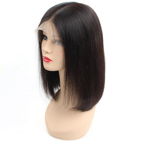 Glueless Short Bob Wigs Pre Plucked Bob Wig Peruvian 100% Human Hair - Fitness Adicts
