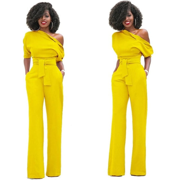 African  short sleeve Wide leg Rompers - Fitness Adicts