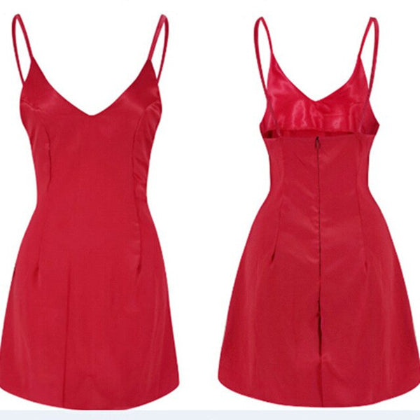 Sexy Red Sleeveless Bandage Bodycon Party Dresses - Fitness Adicts