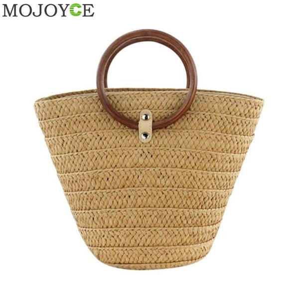 New Straw Handbag Flower Woven Tote - Fitness Adicts