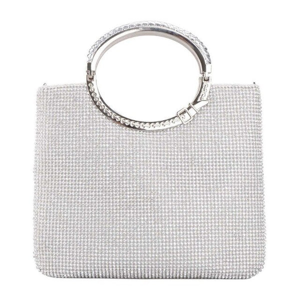 High Quality  Lady Rhinestone Clutch Zipper Shoulder Handbag Wallet Purse Satin Lining - Fitness Adicts