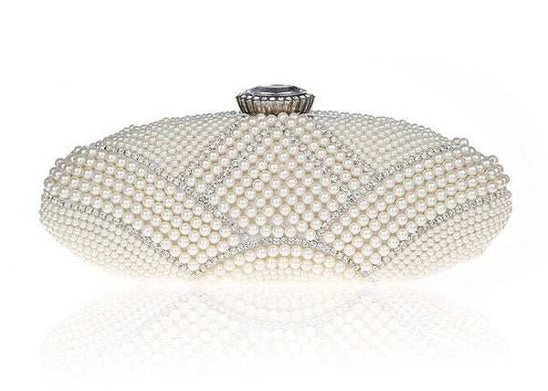 High Quality Bridal Wedding Party Bag Exquisite Pearls  Elegant Rhinestone Cosmetic Bag - Fitness Adicts