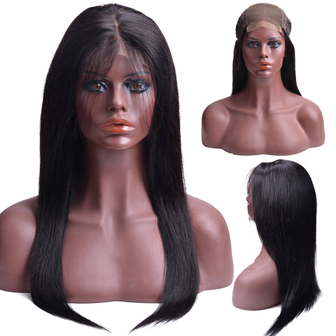 100% Human Hair Remy Brazilian Straight  Lace Closure Wigs - Fitness Adicts