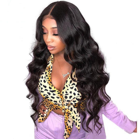 100% Human Brazilian 360 Lace Frontal Wig  Natural Color Wave - Fitness Adicts