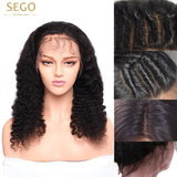 100% Brazilian Virgin Human Hair Wig 4*4 Silk Base Full Lace Curly Long Deep Wave with Baby Hair Free Part - Fitness Adicts