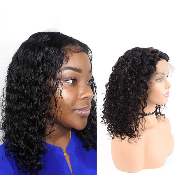 100% Brazilian 13x6 Water Wave Lace Front Human Hair Wigs 180% Density Pre Plucked - Fitness Adicts
