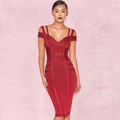 Bandage Sexy Dress Elegant Evening Celebrity Party Dress - Fitness Adicts