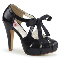 BETTIE-19 Black Faux Leather