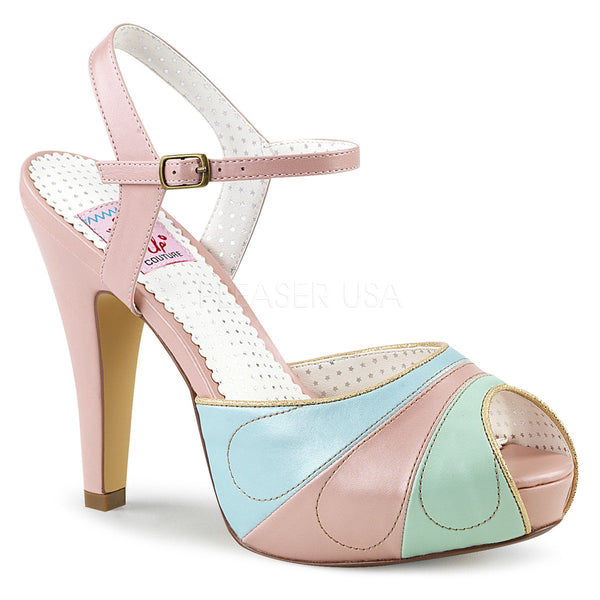 BETTIE-27 Pink Multi Faux Leather